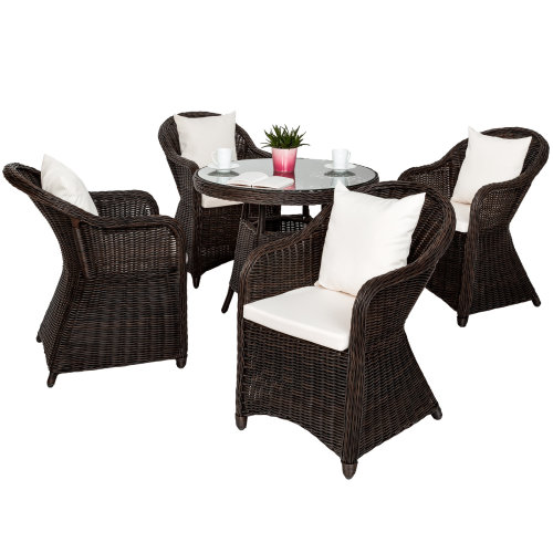 82e2474550a2 Aluminium rattan luxury chair set Zurich with 4 armchairs and... on OnBuy