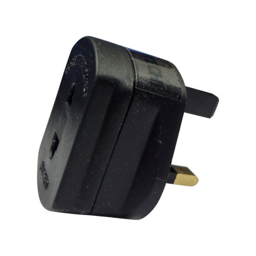 ShaniTech UK shaving Adaptor / Plug (2pin To 3pin) Fused - Compatible With Shaver & Toothbrush