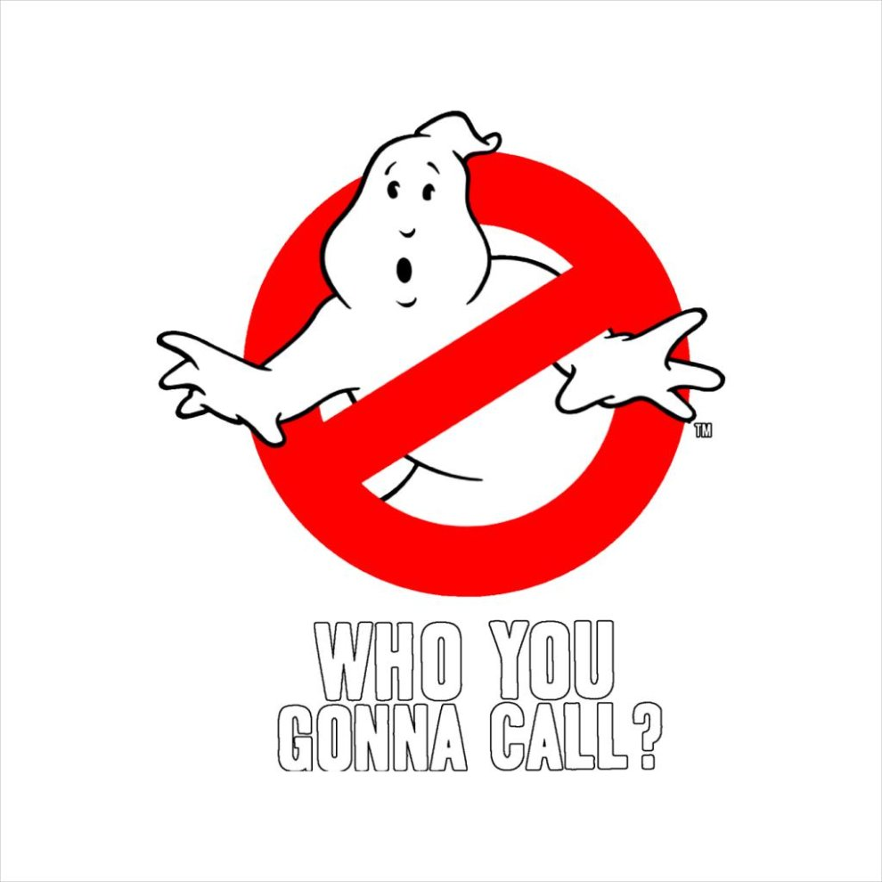 Ghostbusters logo who you gonna call mens t shirt