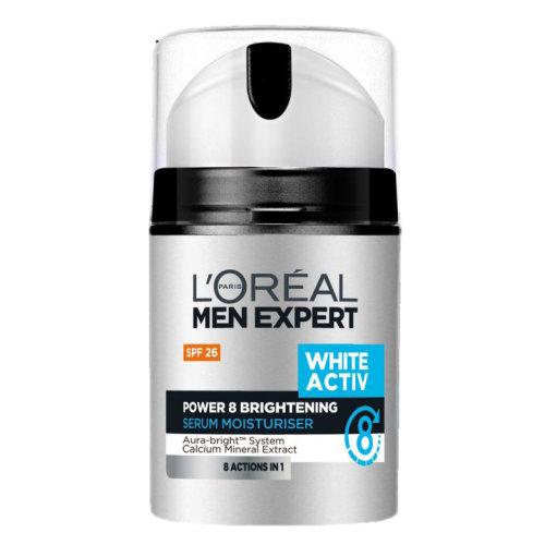 L'Oreal Men Expert White Activ Skin Whitening Serum Moisturizer SPF 26 50ml