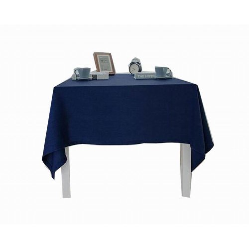 Linen Tablecloth Washable Tablecloth Table Cover Dinner Tablecloth Blue