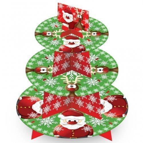 Christmas Santa & Rudolph 3 Tier Cake Stand - Tableware 995935