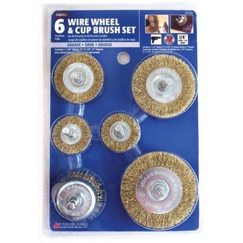 Mibro 6 Piece Set Wire Wheel & Cup Brush 971531