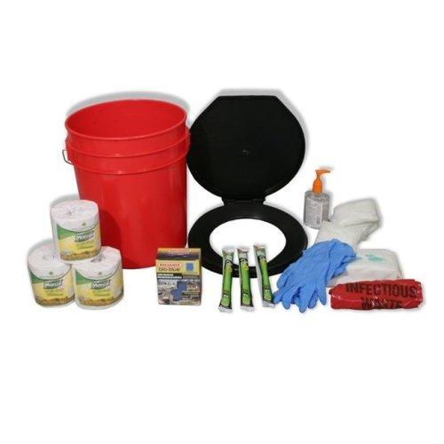 Ready America 4006721 Lockdown Toilet Bucket Kit - 4 to 10 Persons