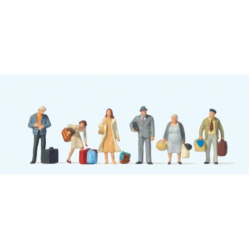 Travellers waiting - High quality OO figures (6) - PREISER 73001 - free post