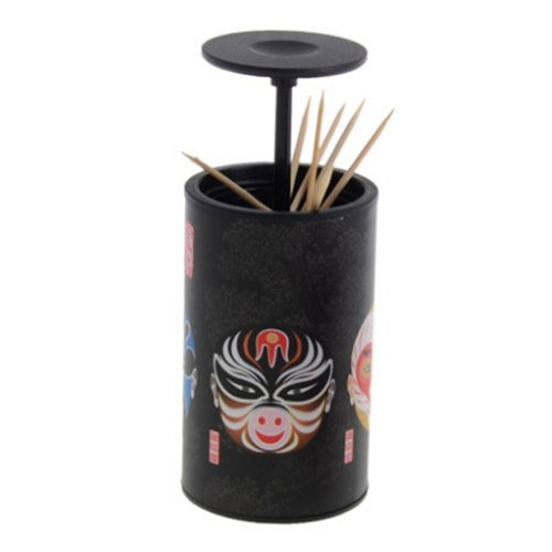 Chinese Style Toothpick Holder Creative Automatic Toothpick Box BLACK