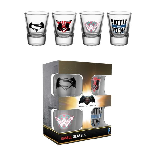 Batman Vs Superman Mix Shot Glasses