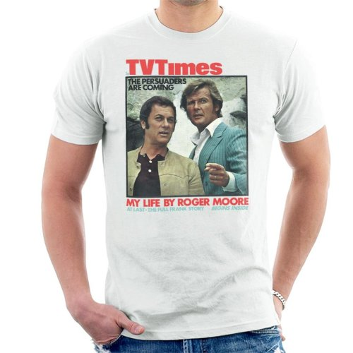 TV Times Tony Curtis Roger Moore Persuaders 1971 Cover Men's T-Shirt