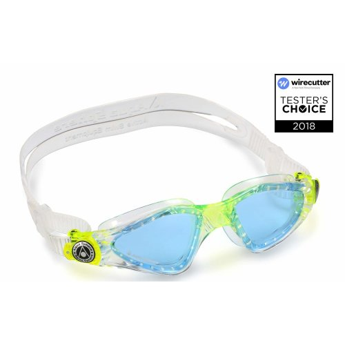 011e471bdec Aqua Sphere Kid's Kayenne Junior Boy's and Girl's Swimming Goggles, Blue  Lens - Transparent/Lime, One Size on OnBuy
