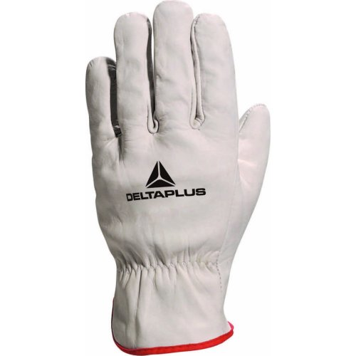 Delta Plus Venitex FBN49 Grey Full Grain Leather Top Quality Safety Work Gloves