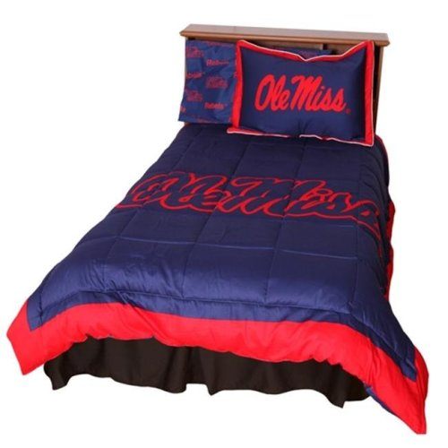 College Covers MISCMFL Ole Miss Reversible Comforter Set -Full