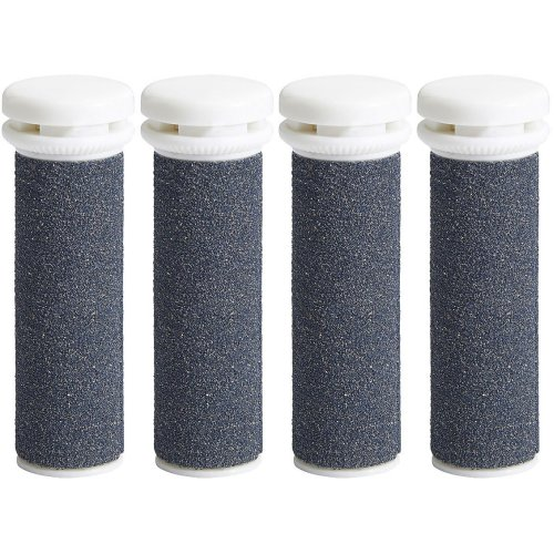 4 x Super Coarse Micro Mineral Replacement Rollers Compatible +Emjoi Micro Pedi