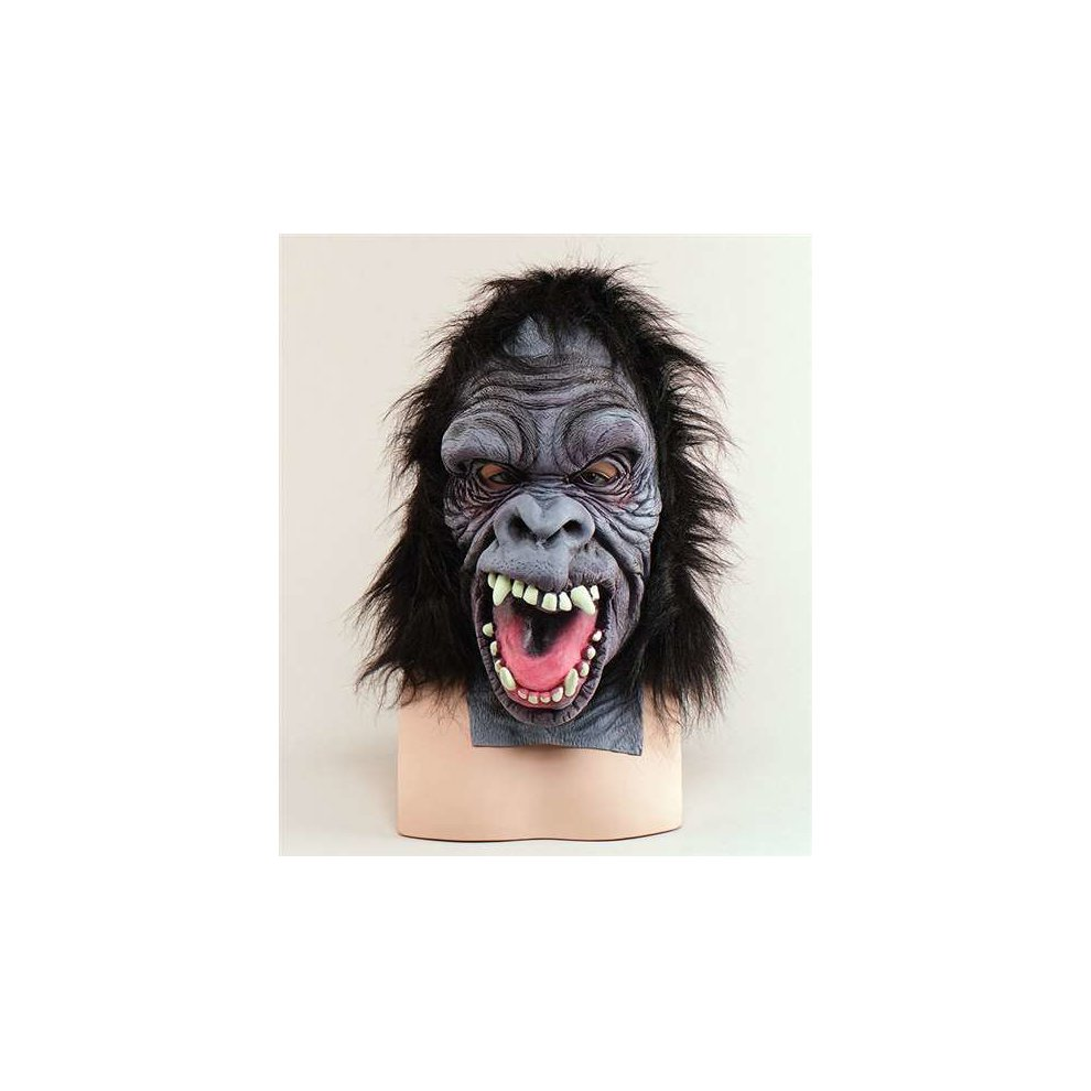 Scary Gorilla Overhead Mask - Fancy Dress Rubber Costume Animal Ape