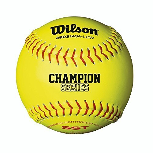 Wilson A9031 Asa Low Optic Yellow Fastpitch Softball Sst 12 Pack