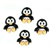 Playful Penguins - Novelty Craft Buttons / Embellishments by Dress It Up