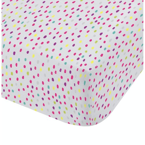 Catherine Lansfield Clouds Easy Care Double Fitted Sheet Multi
