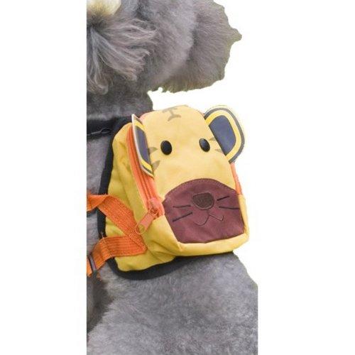 Cartoon Dog Pet Dog Outside Travel Backpack Shoulders Backpack--Tiger