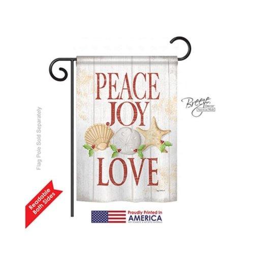 Breeze Decor 64133 Christmas Peace Joy Love 2-Sided Impression Garden Flag - 13 x 18.5 in.