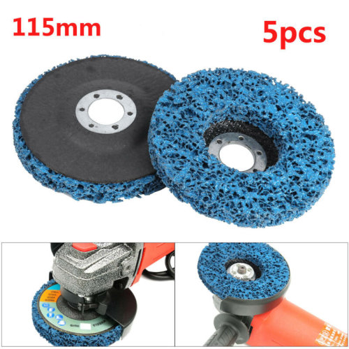 "5Pcs 115mm 4.5"" Poly Strip Wheel Discs Paint Rust Remover Abrasive Angle Grinder"