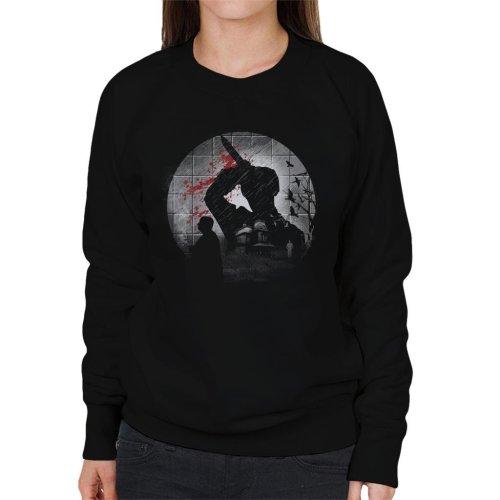 Psycho Silhouette Alfred Hitchcock Women's Sweatshirt