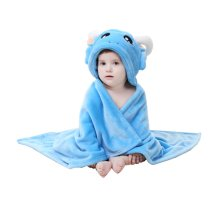 Baby flannel Blanket/ Infant Spring And Summer Quilt Blue [A]