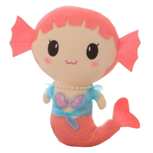 Plush Doll for Kids Lovely Mermaid Plush Toy Stuffed Fish Gift (H)30CM
