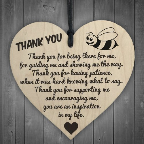 RED OCEAN Thank You For Being There For Me Wooden Hanging Heart Love Friendship Plaque