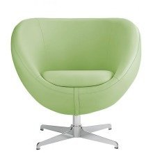 Balisy Modern Swivel Chair in Green Contemporary Funky Design