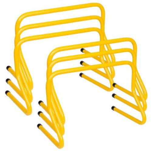 12 in. Weighted Training Hurdle Set, Yellow - Set of 6