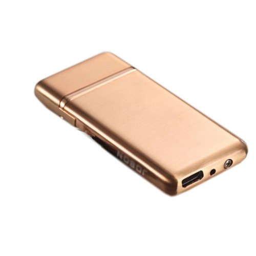 Windproof USB Cigarette Lighter Metal Chargeable Cigar Lighter Best Gift, C
