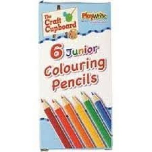 Pack Of 6 Colouring Crayons - Pencils Party Bag 46812 Half Full Length Select -  colouring pencils 6 party bag 46812 half full length select how many