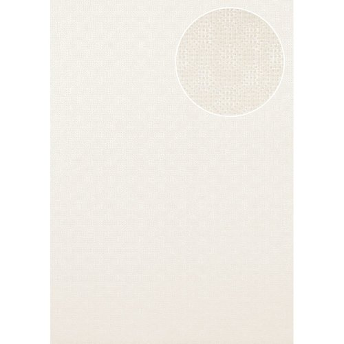 Atlas COL-543-1 Textured wallpaper shimmering oyster-white 5.33 sqm