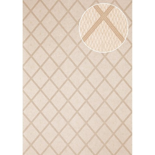 Atlas PRI-560-4 Graphic wallpaper shimmering olive-grey 5.33 sqm