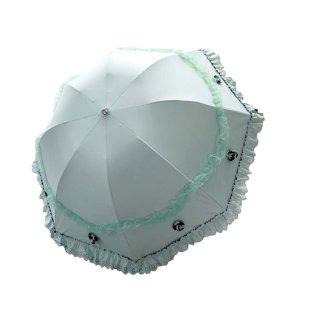 Vinyl Lace Parasol UV Sunscreen Princess Umbrella Arch Sunny Umbrella