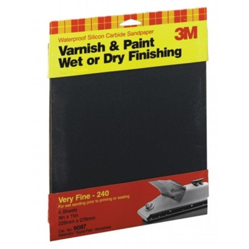 3m 9in. X 11in. Extra Fine Wetordry Varnish  Paint Sandpaper 9086DC-NA