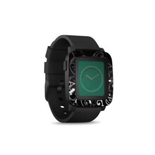 DecalGirl PSWT-BWFLEUR Pebble Time Smart Watch Skin - B&W Fleur