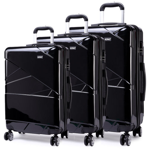 KONO Luggage Suitcase Travel Trolley Case Bag 20 24 28 Inch Set