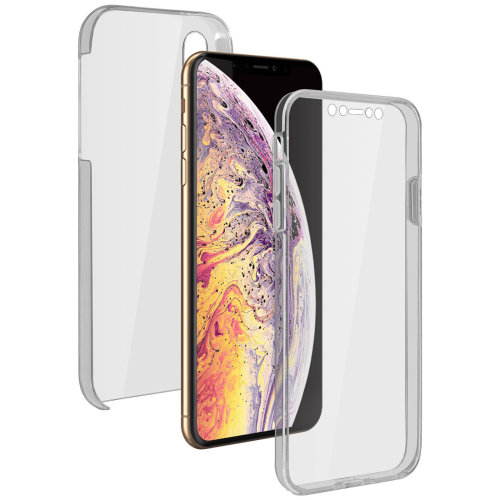 5fb2022d4b Silicone case + back cover in polycarbonate Apple iPhone XS Max - Ultra  clear on OnBuy
