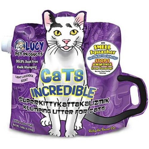 Cats Incredible 850657006517 Clumping Litter Light Lavender Scent Jug, 20 oz