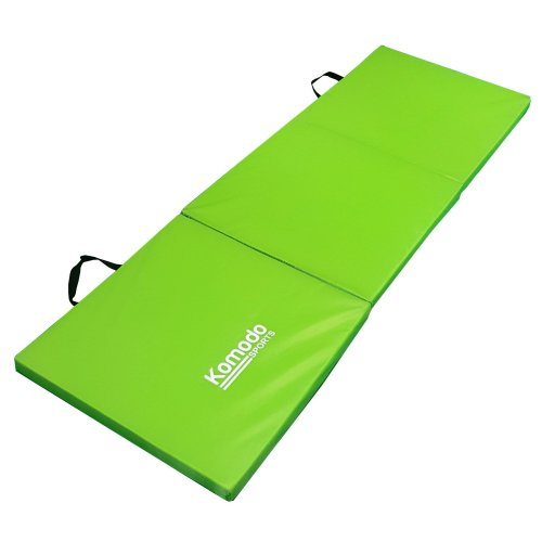 Komodo Tri Fold Folding Exercise Class Mat Gym Train Workout Padded Pilates - Green