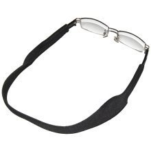 TRIXES Black Neoprene Spectacle Strap for Glasses & Sports Sunglasses