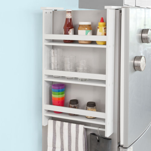 SoBuy® FRG150-W, Hanging Shelf for Refrigerator, 3 Tiers Kitchen Shelf Spice Rack Kitchen Cabinet