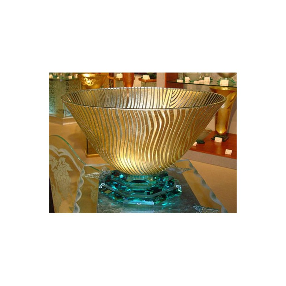Decorative Details Large Twiggs Gold Bowl