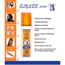 Elysee Star 7in1 Professional Wig Control Spray 200ml - For Human & Synthetic Wigs & Hair Extensions, Dread Locks, Braids etc