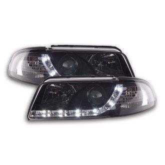 Daylight Headlight Audi A4 Type B5 Year 99 01 Black On OnBuy