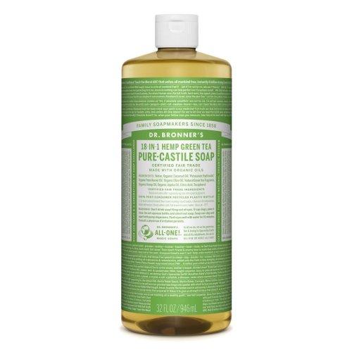 Dr Bronner Org Green Tea Castile Liquid Soap 946ml