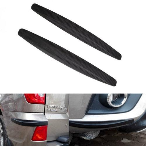 2x Universal Car Carbon Fiber Anti-rub Strip Bumper Body Corner Protector Guard