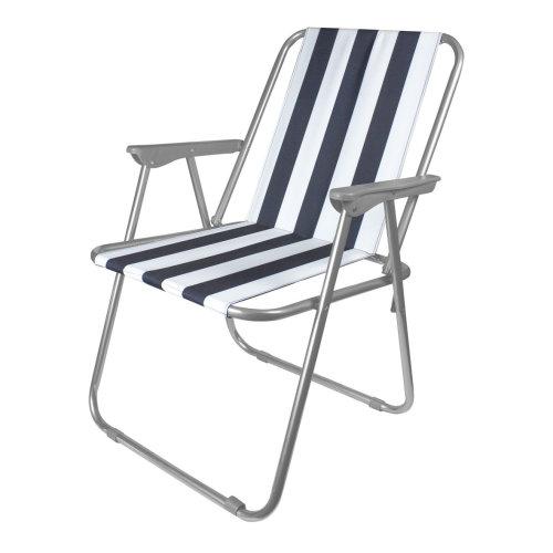 Folding Traditional Beach Chair Ideal For Garden Patio Beach