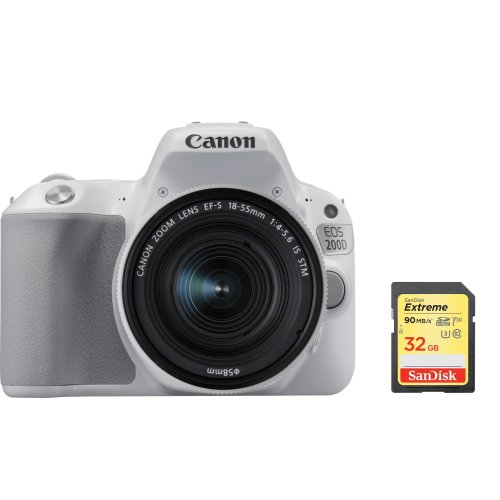 CANON EOS 200D White KIT EF-S 18-55mm IS STM Silver + 32G SD card