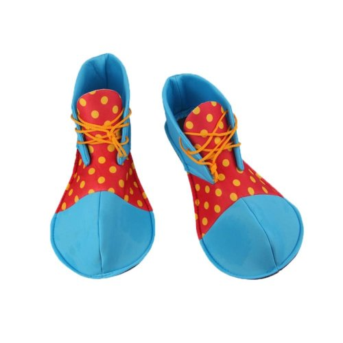 Cloth Clown Shoes Pretend Games Shoes For Adults Party Clown Costume Supplies, Blue and Red